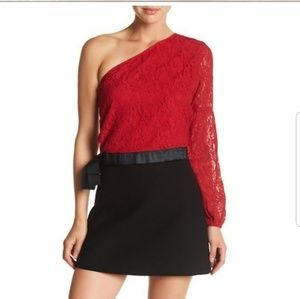 Walter Baker Lace One Shoulder Top